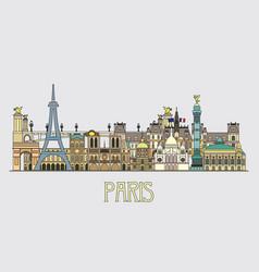 Paris colorful line art 5 vector