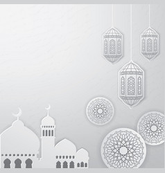 ramadan greeting card background vector image