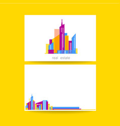 real estate template design vector image