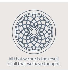 Religious circular ornament vector