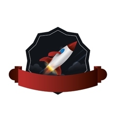 Rocket or Spaceship design vector
