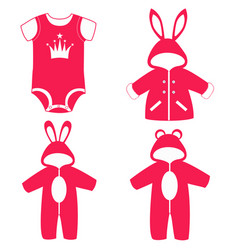 Romper suit collection vector