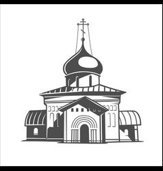 russia orthodox church vector image