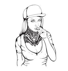 Sex rap girl vector