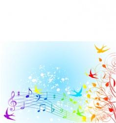 Spring song vector