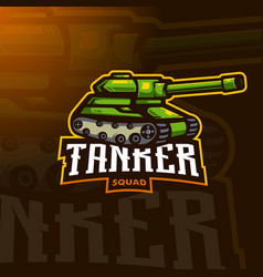 tanker sports logo vector image