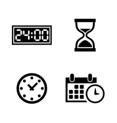 time clock watch timer simple related vector image