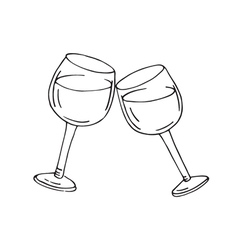 Two glasses of wine vector image