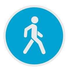 Walking man icon flat style vector