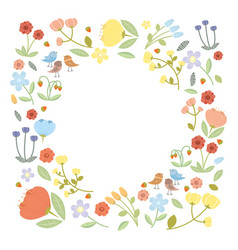 With flowers collection vector