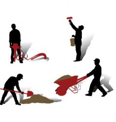 workers collection vector image