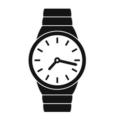 Wristwatch man icon simple black style vector