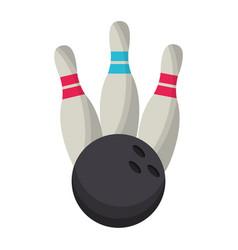 bowling ball pin game vector image