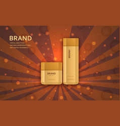Cream and lotion bottles template vector