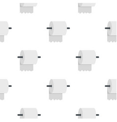 white roll of toilet paper on a holder pattern vector image vector image
