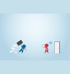businessman running with briefcase to office vector image