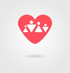 family heart icon vector image