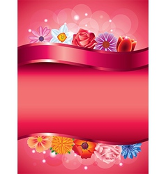 flowers vertical background vector image