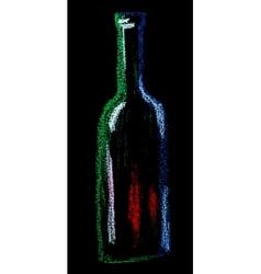 wine on black vector image vector image