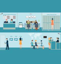 bank building interior vector image