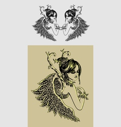 beauty angel vector image vector image