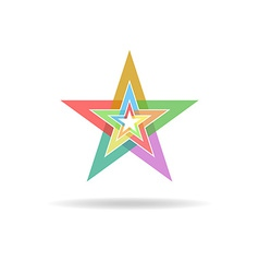Business flat logo design concept colorful stars vector image vector image