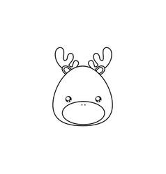 deer drawing face vector image