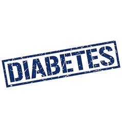 diabetes stamp vector image vector image