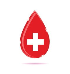 drop of blood sign color vector image