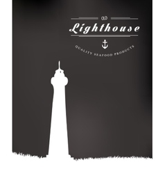 Lighthouse drawn vector image