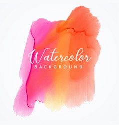 bright colorful watercolor stain background vector image vector image