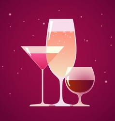 Cocktail brandy and wine vector image