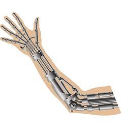 Cybernetic hand vector image