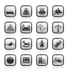 different kind of toys icons vector image