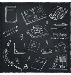 office tools doodles pen pencils book paper vector image vector image