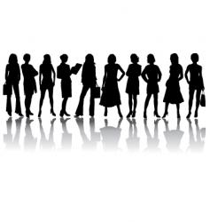 silhouettes woman vector image