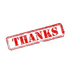 Thanks rubber stamp vector image vector image