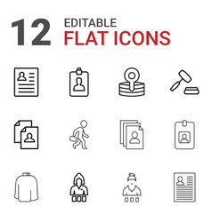 12 occupation icons vector