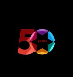 50 year anniversary diamond star template design vector