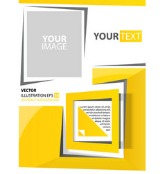 Abstract background yellow square vector