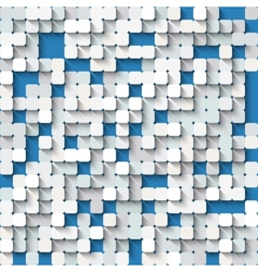 Abstract white and blue background with mosaic vector image