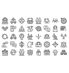 Advice icons set outline style vector