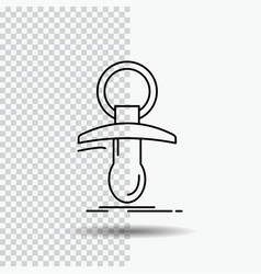 baby dummy newbie nipple noob line icon on vector image