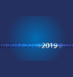 Background silver inscription happy new year 2019 vector