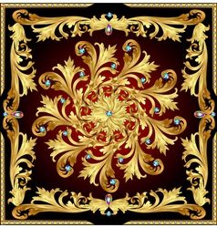 Background with a rosette of gold vector
