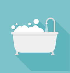 Bath tub icon vector