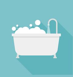 Bath tub icon vector