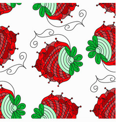 berry abstract pattern background vector image