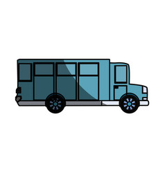 Big bus vehicle vector