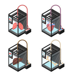 bioprinting concept computer modeling lungs vector image